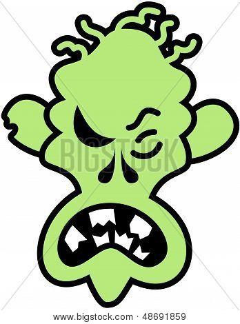 Angry Halloween zombie