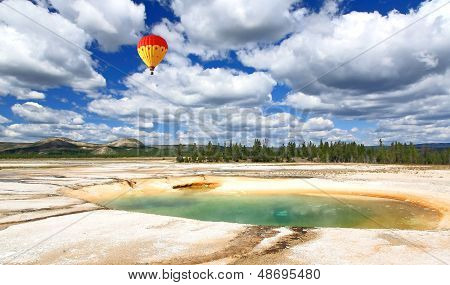 Midway Geyser Basin In Yellowstone