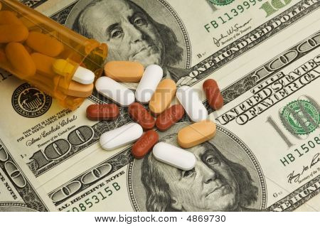 Pills Spilled Over Money