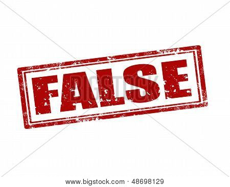 False-Stempel