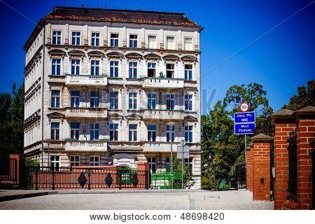 Monuments around Ostrow Tumski in Wroclaw, Poland