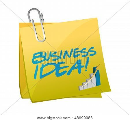 Business Idea Post Illustration Design