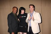 LOS ANGELES - JUL 29:  Rocky Carroll, Pauley Perrette, Michael Weatherly arrives at the 2013 CBS TCA