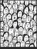 People crowd -cartoon characters
