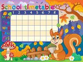School timetable thematic image 6 - eps10 vector illustration.
