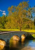 foto of battlefield  - Burnside Bridge along Antietam Creek in Antietam National Battlefield Maryland - JPG