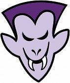 picture of terrific  - Terrific purple vampire with elegant hairstyle - JPG
