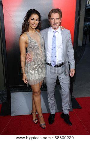 Janina Gavankar and Sam Trammell at the