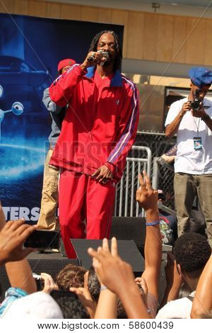 Snoop Dogg at the TURBO-Charged Party and Surprise Snoop Dogg Concert, LA Live, Los Angeles, CA 06-12-13