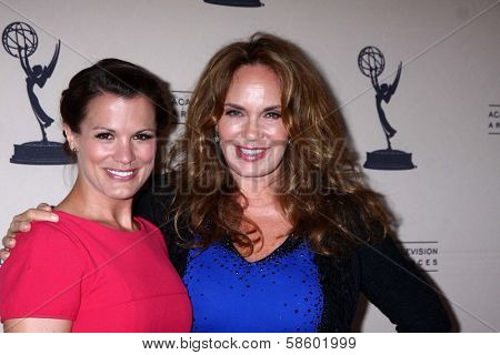 Melissa Claire Egan and Catherine Bach at the Daytime Emmy Nominees Reception presented by ATAS, Montage Beverly Hills, CA 06-13-13