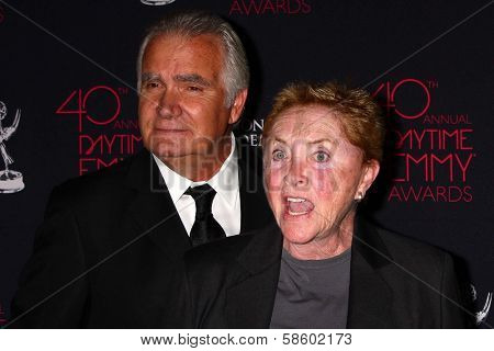 Susan Flannery and John McCook at the 2013 Daytime Creative Emmys, Bonaventure Hotel, Los Angeles, CA 06-14-13