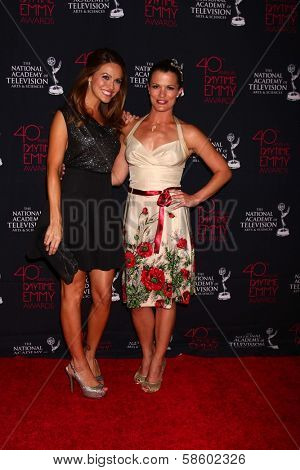 Chrishell Stause and Melissa Claire Egan at the 2013 Daytime Creative Emmys, Bonaventure Hotel, Los Angeles, CA 06-14-13