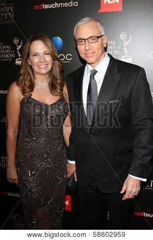 Dr. Drew Pinsky and wife Susan at the 40th Annual Daytime Emmy Awards, Beverly Hilton Hotel, Beverly Hills, CA 06-16-13
