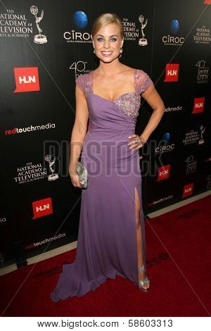 Jessica Collins at the 40th Annual Daytime Emmy Awards, Beverly Hilton Hotel, Beverly Hills, CA 06-16-13