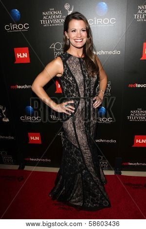 Melissa Claire Egan at the 40th Annual Daytime Emmy Awards, Beverly Hilton Hotel, Beverly Hills, CA 06-16-13