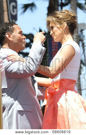 Jennifer Lopez with Benny Medina at the Jennifer Lopez Star on the Walk of Fame ceremony, Hollywood, CA 06-20-13