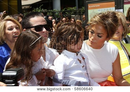Casper Smart, Emme Anthony, Jennifer Lopez and Max Anthony at the Jennifer Lopez Star on the Walk of Fame ceremony, Hollywood, CA 06-20-13