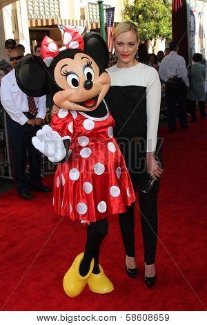 Peta Murgatroyd and Minnie Mouse at