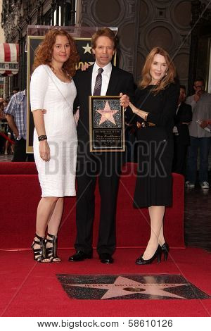 Jerry Bruckheimer with wife and daughter at the Jerry Bruckheimer Star on the Hollywood Walk of Fame ceremony, Hollywood, CA 06-24-13