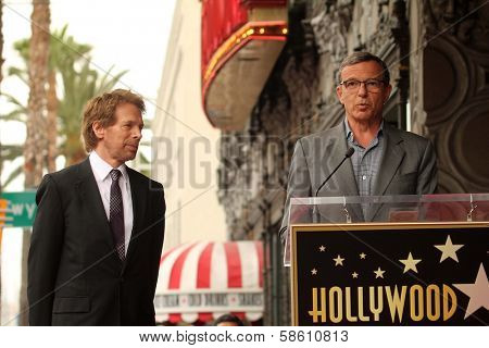 Jerry Bruckheimer and Bob Iger at the Jerry Bruckheimer Star on the Hollywood Walk of Fame ceremony, Hollywood, CA 06-24-13