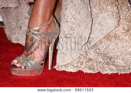 Charisma Carpenter`s tattoo seen at the 4th Annual Thirst Gala, Beverly Hilton Hotel, Beverly Hills, CA 06-25-13