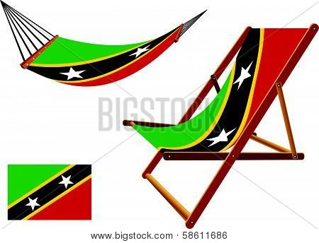 Saint Kitts And Nevis Hammock And Deck Chair Set