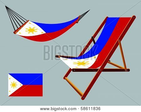Philippines Hammock And Deck Chair Set