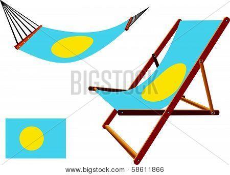 Palau Hammock And Deck Chair Set
