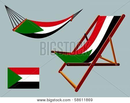 Palestine Hammock And Deck Chair Set