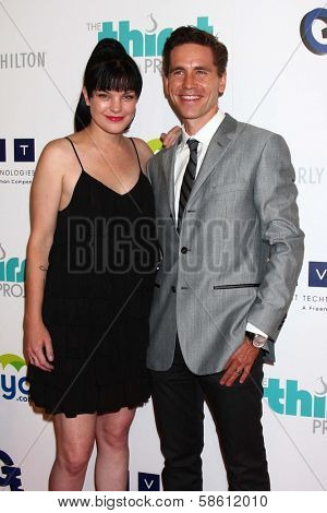 Pauley Perrette and Brian Dietzen at the 4th Annual Thirst Gala, Beverly Hilton Hotel, Beverly Hills, CA 06-25-13