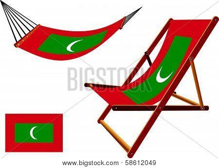 Maldives Hammock And Deck Chair Set