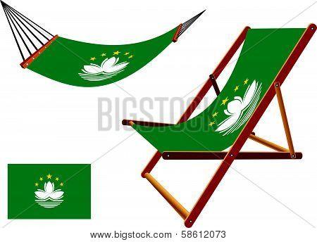 Macau Hammock And Deck Chair Set