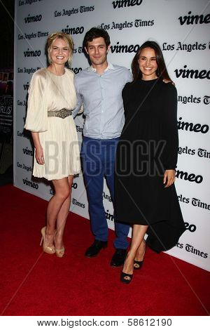 Jennifer Morrison, Adam Brody and Mia Maestro at the