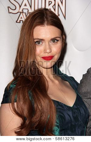 Holland Roden at the 39th Annual Saturn Awards Press Room, The Castaway, Burbank, CA 06-26-13