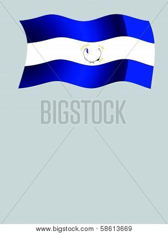 Guatemala Wavy Flag And Coordinates