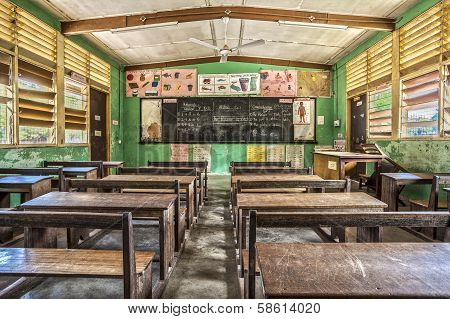 Classroom In Ghana, West Africa