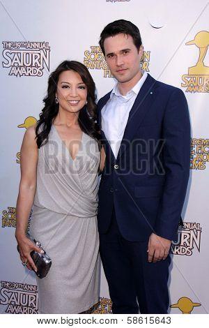 Ming-Na Wen and Brett Dalton at the 39th Annual Saturn Awards, The Castaway, Burbank, CA 06-26-13