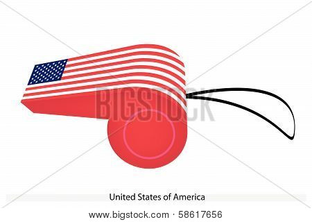 A Whistle Of United States Of America