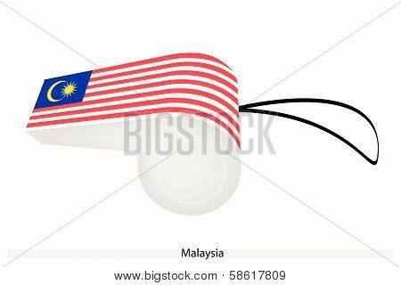 A Red, White And Blue Whistle Of Malaysia Flag