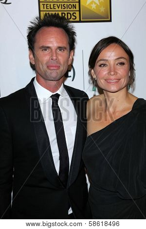 Walton Goggins and wife Nadia Conners at the 3rd Annual Critics' Choice Television Awards, Beverly Hilton Hotel, Beverly Hills, CA 06-10-13
