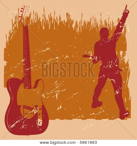 Guitar Grunge Background