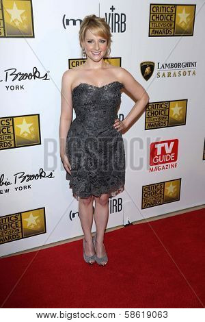 Melissa Rauch at the 3rd Annual Critics' Choice Television Awards, Beverly Hilton Hotel, Beverly Hills, CA 06-10-13