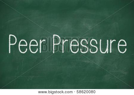 Peer Pressure School Chalkboard