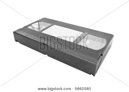 Isolated Vhs Video Cassette