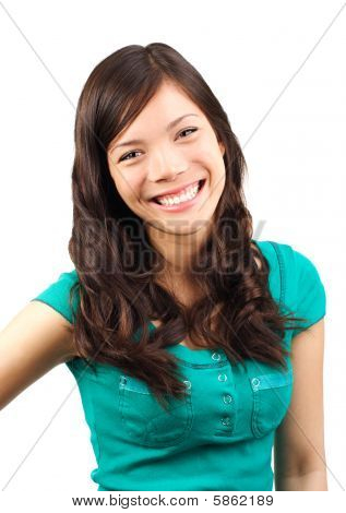 Cute Woman Laughing