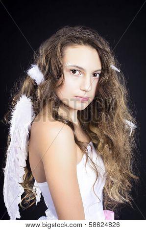 beautiful girl in angel costume