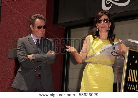Bryan Cranston and Jane Kaczmarek at the Bryan Cranston Star on the Hollywood Walk of Fame Ceremony, Hollywood, CA 07-16-13