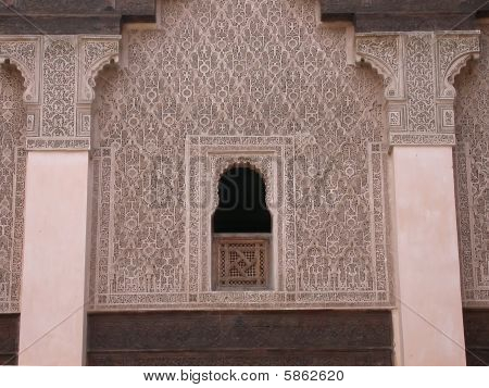 moroccan decorated wall
