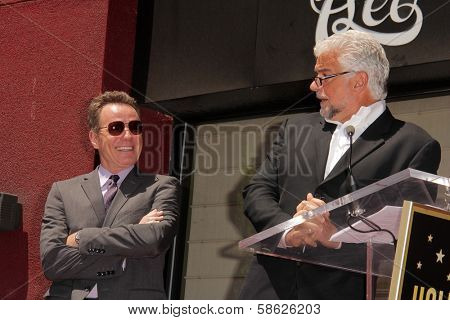 Bryan Cranston and John O'Hurley at the Bryan Cranston Star on the Hollywood Walk of Fame Ceremony, Hollywood, CA 07-16-13