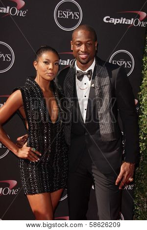 Gabrielle Union and Dwayne Wade at The 2013 ESPY Awards, Nokia Theatre L.A. Live, Los Angeles, CA 07-17-13